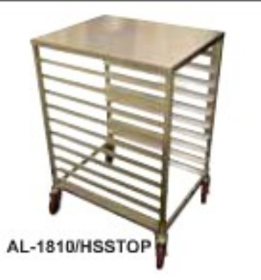 Win-Holt AL1810/H-SS-TOP 1/2-Size Aluminum Pan Rack, Holds 10-Pans, 21 x 26 x 38-in H