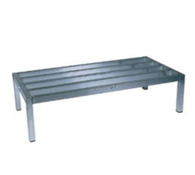 "Win-Holt ALSQ41224 Dunnage Rack, Heavy Duty Aluminum, 24 D x 48 in L x 12"" H"