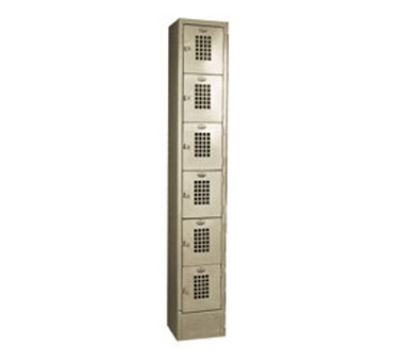 Win-Holt WL-66 1-Column 6-Tier Locker, 10 x 12 x 12-in Compartments