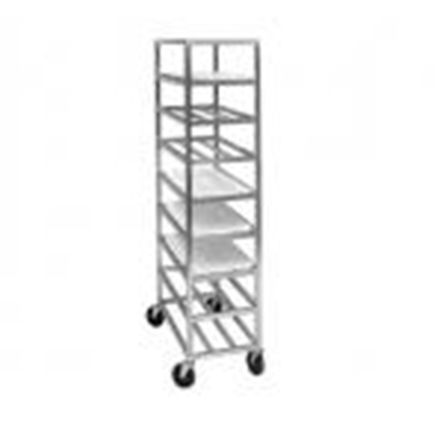 Channel AXDUPR8 8-Shelf Mobile Platter Rack w/ 6.75-in Spacing, Aluminum