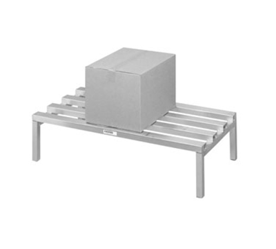 Channel 333CA 12-in Dunnage Rack w/ 2500-lb Capacity, 48x24-in, Aluminum