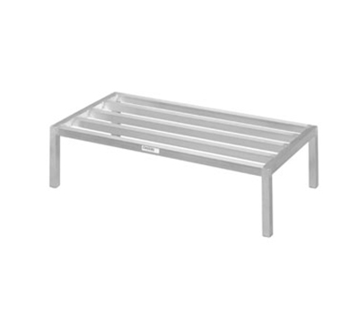 Channel 332ED 12-in Tubular Dunnage Rack w/ 2200-lb Capacity, 36x24-in, Aluminum