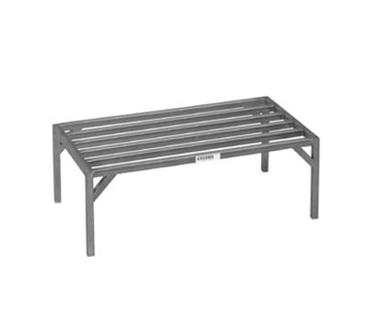 Channel 328ES 12-in Tubular Dunnage Rack w/ 4000-lb Capacity, 36x20-in, Aluminum
