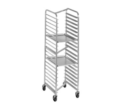 Channel 402AN 70.25-in Front Loading Bun Pan Rack w/ 15-Pan Capacity & 4-in Spacing,