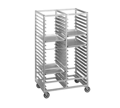 Channel 458A Side Loading Cafeteria Tray Rack w/ 60-Tray Capacity For 14x18-in Tray & 4-in Spacing, Aluminum