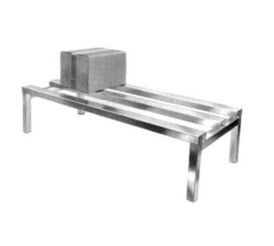 Channel ADR2036 Dunnage Rack w/ 2200-lb Capacity, 36x20-in, Aluminum