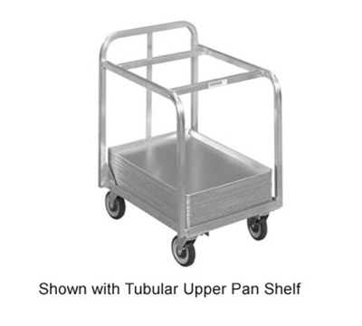 Channel BPT-2TP Bun Pan Truck w/ Tubular Upper Pan Shelf, Aluminum