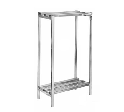 Channel DR332-2 Dunnage Shelving w/ 52.5-in Spacing, 36x24-in, Aluminum