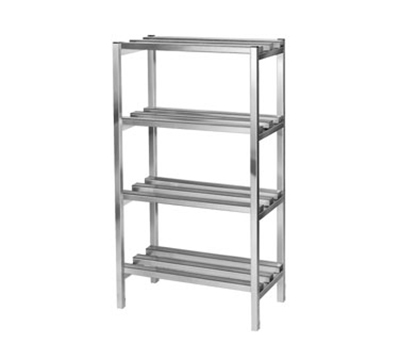 Channel DR333-4 Dunnage Shelving w/ 16.5-in Spacing, 48x24-in, Aluminum