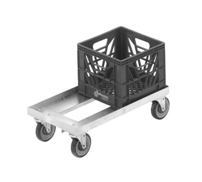 Channel MC1326 Double Stack Milk Crate Dolly, 13x13-in, Aluminum