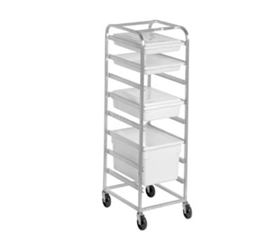 Channel PBA708 70-in Poly Box Rack w/ 7.5-in Spacing & 8-Level, Aluminum