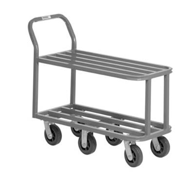 Channel STK18404 36-in Mobile Stocking Cart w/ 5-in Swivel Caster, Plated Finish