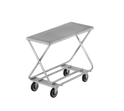 Channel STKG300 32-in Mobile Stocking Cart w/ No Handle, Tubular Bottom Shelf, 20x46-in, Steel