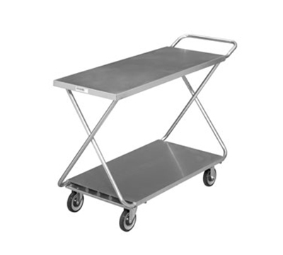 Channel STKG400H 34-in Mobile Stocking Cart w/ Handle, Solid Bottom Shelf, 22x52-in, Steel