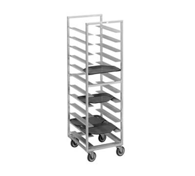 Channel T438A Cafeteria Tray Rack w/ 30-Tray Capacity For 14x18-in Tray & 4-in Spacing, Aluminum