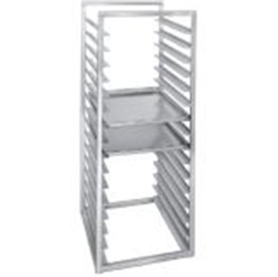 Channel RIR-24 51-in Front Loading Rack w/ 24-Tray Capacity & 2-in Spacing, Aluminum