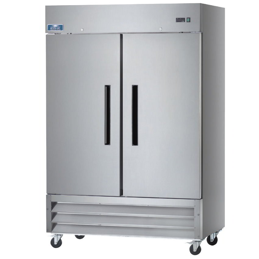 "Arctic Air AF49 54"" Reach-In Freezer - 2-Solid Doors, Stainless/Aluminum"