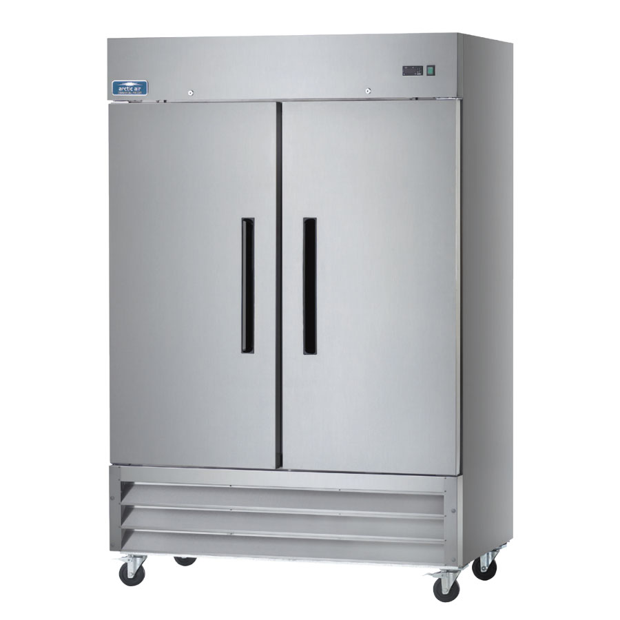 "Arctic Air AR49 54"" Reach-In Refrigerator - 2-Solid Doors, Stainless/Aluminum"