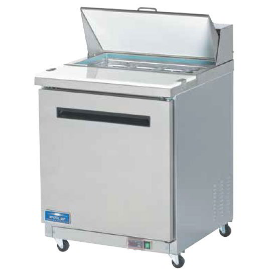 "Arctic Air AST28R 29"" Sandwich/Salad Prep Table - 1-Door, 6.5 cu ft, Stainless"