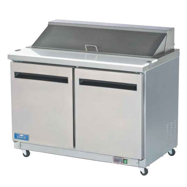 "Arctic Air AST48R 48"" Sandwich/Salad Prep Table - 2-Doors, 12 cu ft, Stainless"