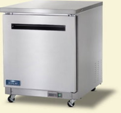"Arctic Air AUC27F 27"" Undercounter Freezer - 1-Solid Door, 6.5 cu ft, Stainless/Aluminum"