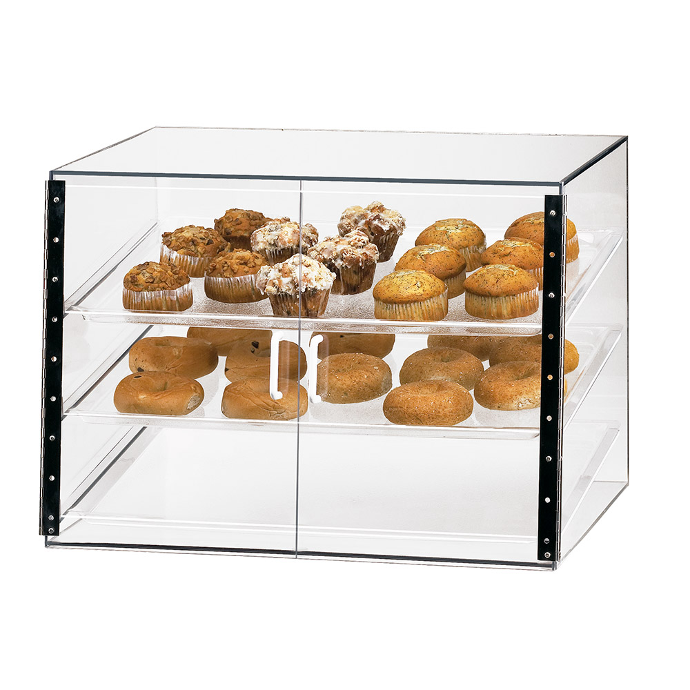 Cal-Mil 1202S 27-in Self-Serve Slanted Front Display Case w/ (3) 18 x 26-in Trays