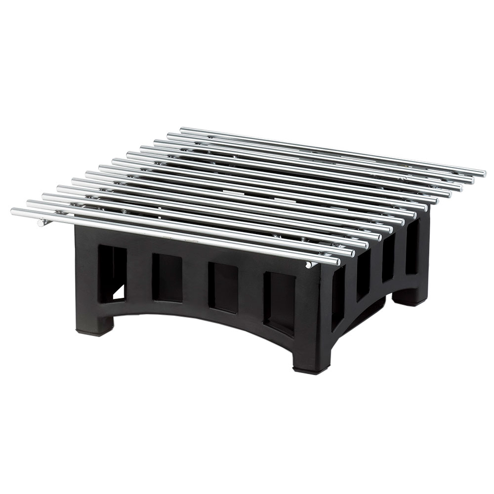 Cal-Mil 1360-12-13 Bridge Style Square Chafer Alternative, 12 x 12 x 7.5-in H, Black