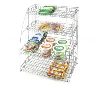 Cal-Mil 1418-18 Wood Frame Merchandiser w/ Wire Baskets, 18.5 x 13.5 x 23.5-in