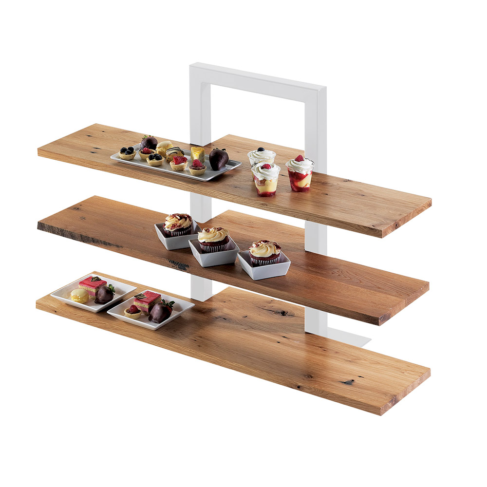 Cal-Mil 1449-99 Reclaimed Wood Frame Riser Shelf For 1464 & 1467, 32 x 11.5-in D