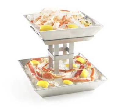 Cal-Mil 1563-2 Ice Display, 12.75 x 12.75 x 11.5-in, Aluminum