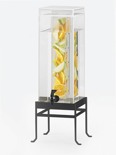 Cal-Mil 1578-1INF-13 1-1/2-gal Soho Beverage Dispenser - Infusion, Drip Tray, Acrylic, Black