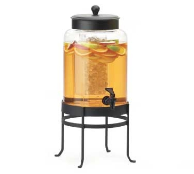 Cal-Mil 1580-2-74 Glass Beverage Dispenser w/ Frame, 10 x 12 x 20.5-in, Silver