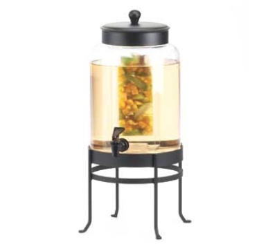 Cal-Mil 1580-2INF-13 Glass Infusion Beverage Dispenser w/ Black Frame, BPA Free