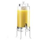 Cal-Mil 1580-3-74 Beverage Dispenser w/ Glass & Silver Frame, 10 x 12 x 24.5-in