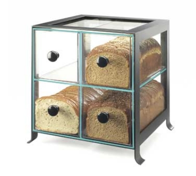 Cal-Mil 1586-13 BPA Free Bread Case, 14 x 13 x 14.5-in, Black