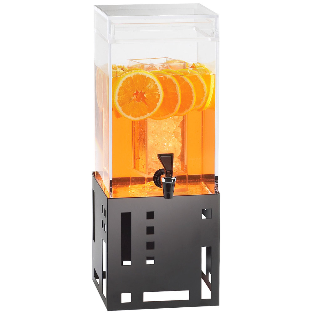 Cal-Mil 1602-1-13 1.5-Gal Squared Beverage Dispenser, 7.5 x 9.5 x 22.75-in,
