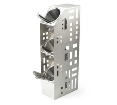 Cal-Mil 1605-55 3-Cylinder Squared Display, 5 x 8 x 20.5-in, Stainless