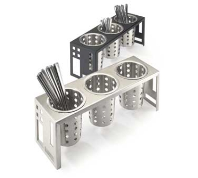 Cal-Mil 1608-55 Squared Cylinder Display, 16 x 5.25 x 6-in, Stainless