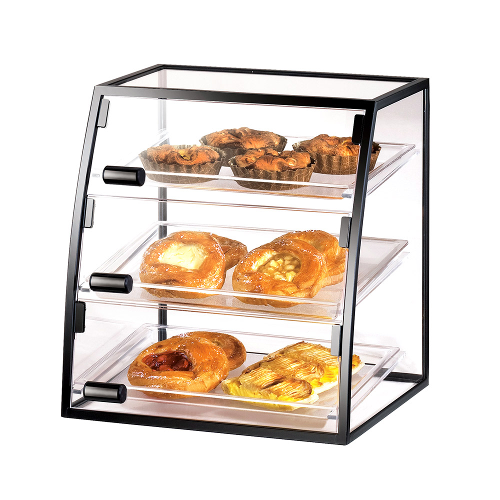 Cal-Mil 17081014 16-in Self-Serve Cabinet w/ Iron Frame & (3) 10 x 14-in Trays