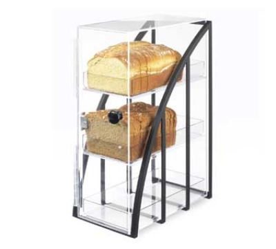 Cal-Mil 1716-13 3-Tier Bread Case, 7.75 x 12.75 x 19.25-in, Black