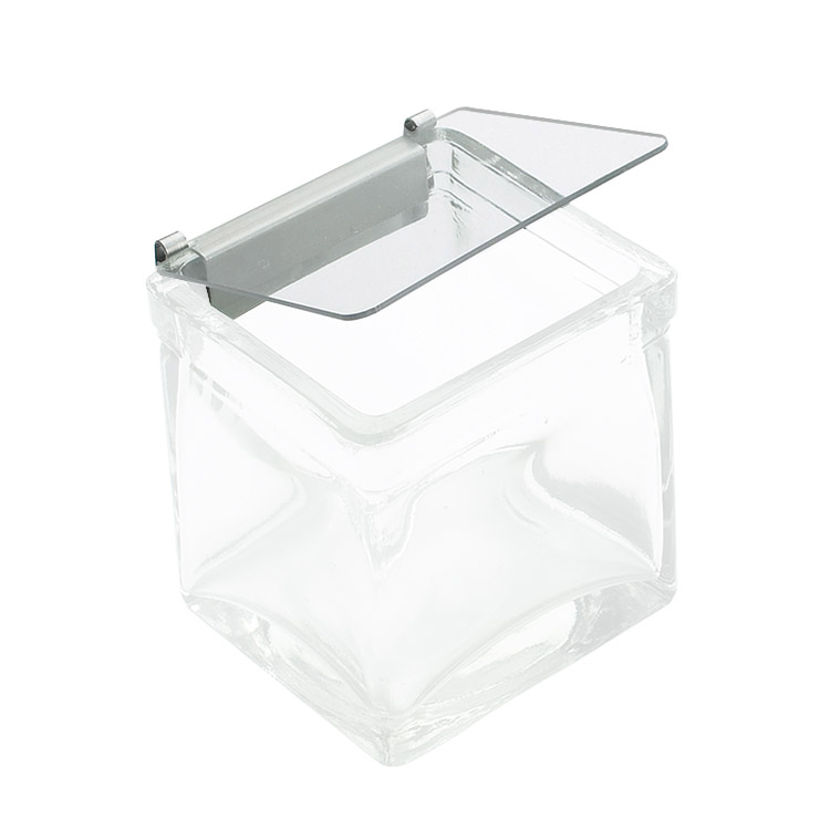 Cal-Mil 1807-N Notched Lid w/ Metal Hinge, for 4 x 4-in Glass Jars