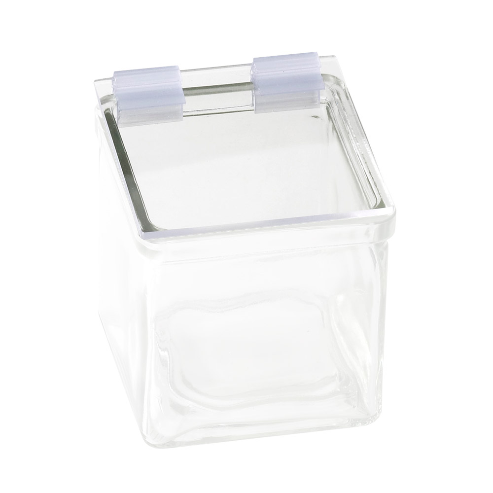 Cal-Mil 1811 Solid Lids w/ Soft hinge, For 4 x 4-in Glass Jars