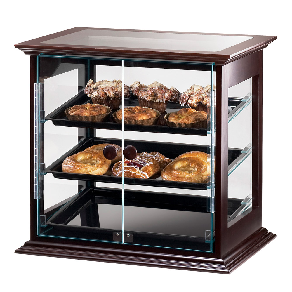 Cal-Mil 284-S-52 Self-Serve Frame Display Case w/ (3) 13 x 18-in Black Trays, Wood