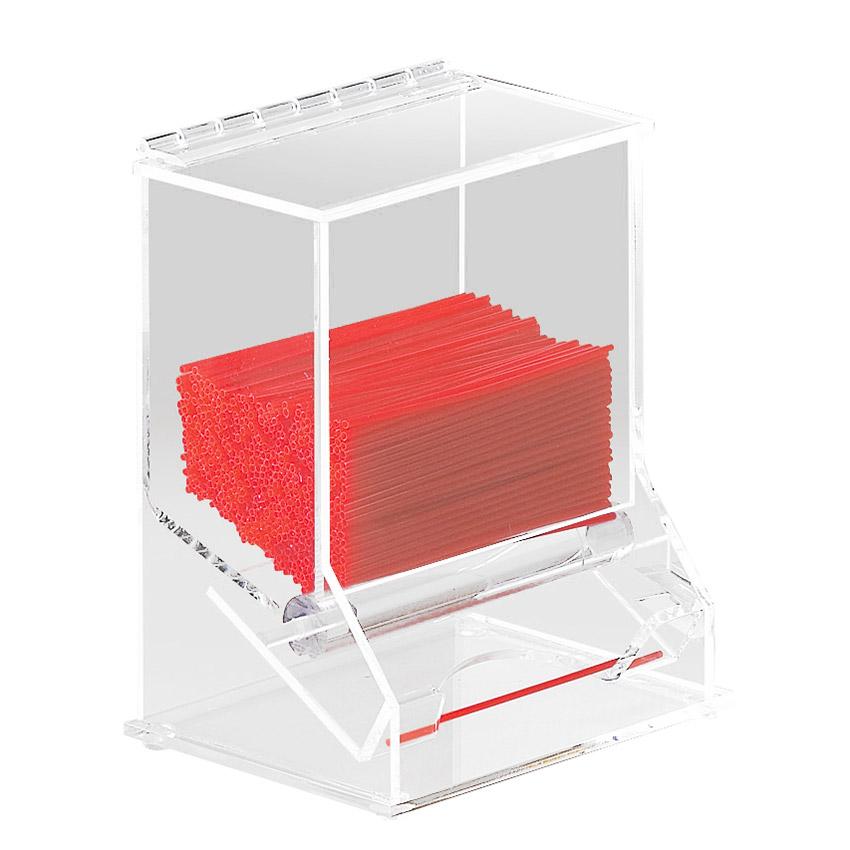 Cal-Mil 296 6.5-in Stir-Stick Milk Straw Dispenser, Clear Acrylic