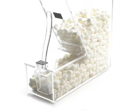 Cal-Mil 373-H Topping Dispenser w/ Holster & Magnetic Lid, 4 x 11 x 11-in, Clear