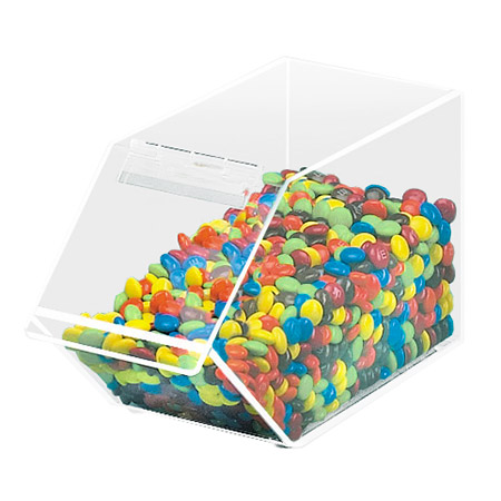 Cal-Mil 492 Stackable Acrylic Topping Bin, 4.5 x 11 x 5