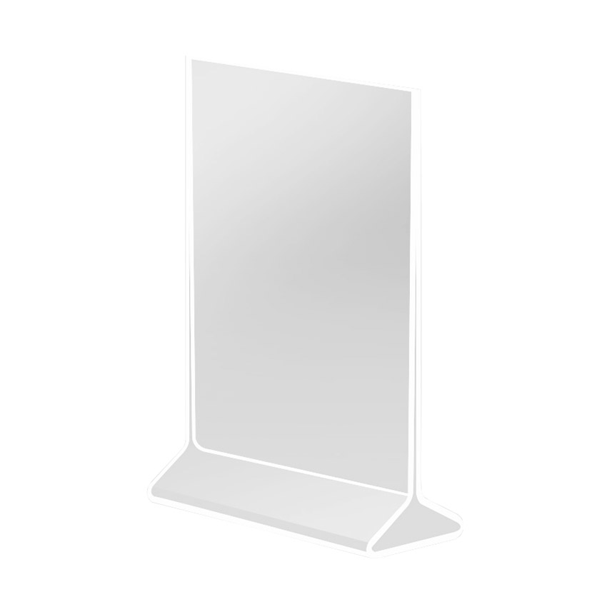 Cal-Mil 537 Displayettes Card Holder 4 in x 8 in H Standard Clear Acrylic Restaurant Supply