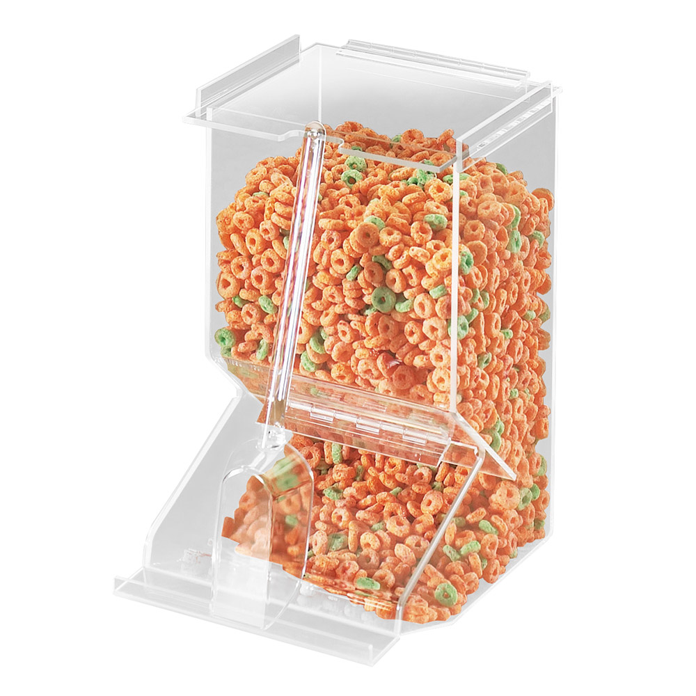 Cal-Mil 656 Stackable Acrylic Bulk Cereal Dispenser w/ 450-cu in Capa