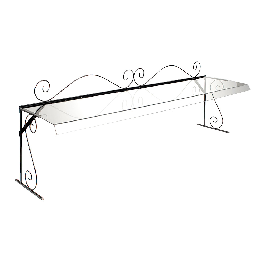 Cal-Mil 7106 72-in Portable Buffet Sneezeguard w/ Wire Frame & Acrylic Guard