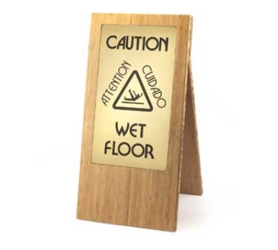 Cal-Mil 852-60 Bamboo Wet Floor Sign, 12